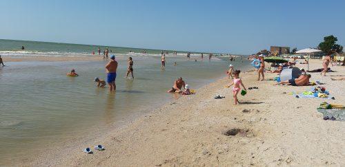 Кирилловка. Пересыпь. Пляж базы отдыха  Приморская Галатея ZpTown