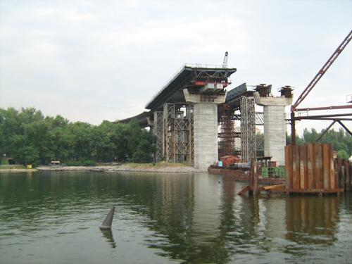 Строительство мостов в Запорожье: 2012г.