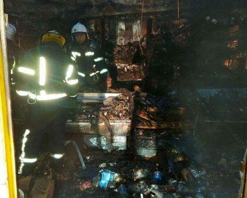 В Мелитополе сгорел продмаг